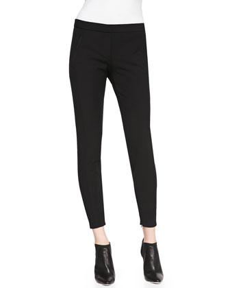 Venlynn Zipper-Cuff Twill Pants