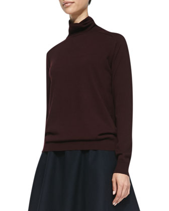 Kristoff Knit Turtleneck Sweater, Merlot