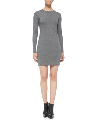 Siya Formfitting Knit Cashmere Dress