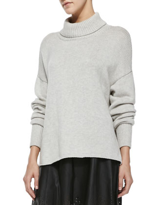 Irissa Rib-Trim Turtleneck Sweater