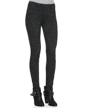Keena Reptile-Print Skinny Pants