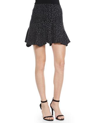 Wemberley Leopard-Print Knit Skirt
