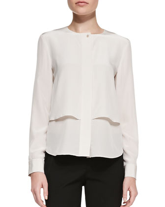 Gentalla Layered Double-Georgette Top