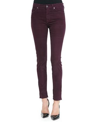 Sateen Skinny Pants