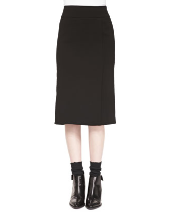 Straight Knee-Length Skirt