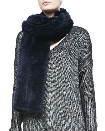 Rabbit Fur Scarf, Coastal