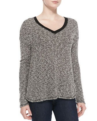 Giles V-Neck Knit Sweater