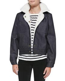 The Faux-Shearling Denim Jacket
