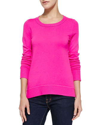 Solid Cashmere Crewneck Sweater