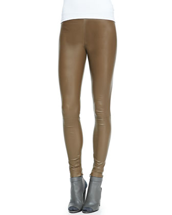 Leather Leggings, Olive Tree
