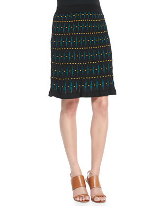Helix Printed Knit Skirt
