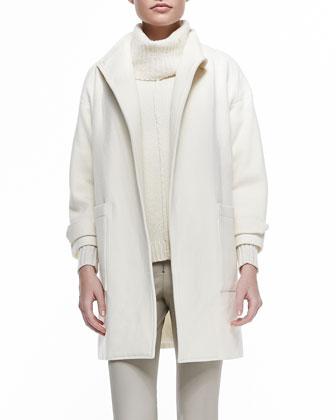 Tiff Drop-Shoulder Felt Coat