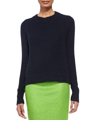 Jackson Waffle-Pattern Knit Sweater