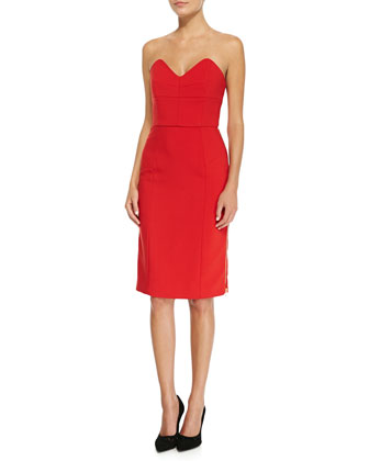 Marta Side-Zip Strapless Dress