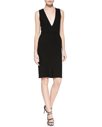 Tany V-Neck Fitted Dress
