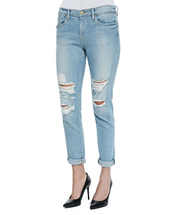 Le Garcon Distressed Rolled-Cuffs Jeans, Lucielle