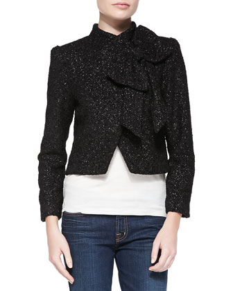 Hope Metallic Bow-Neck Jacket