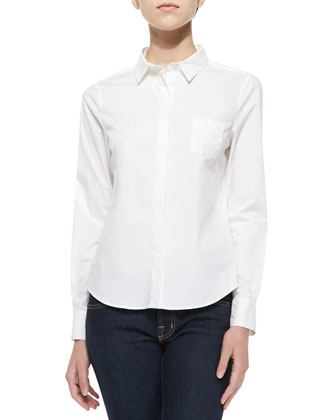 Louise Fitted Long-Sleeve Blouse
