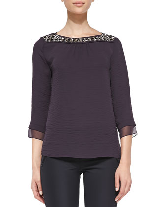 Bead-Neck Top, Wildberry