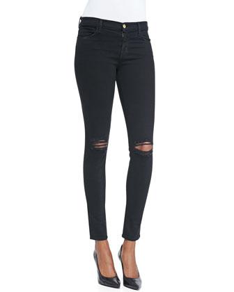 Distressed Skinny-Leg Jeans