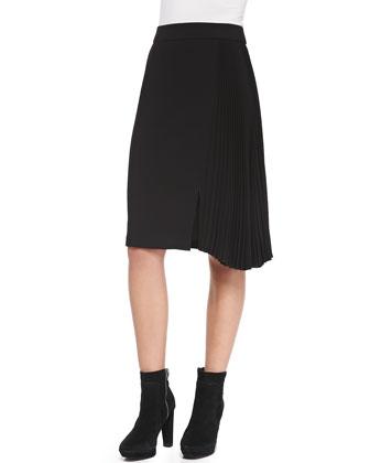 Side-Pleated Skirt