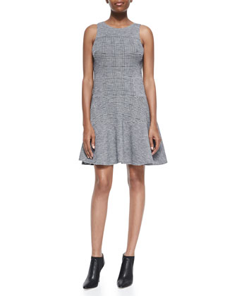 Chadwick Flirty Combo Fit-and-Flare Dress