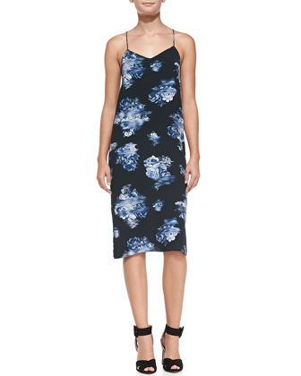 Floreale Midi-Length Slip Dress