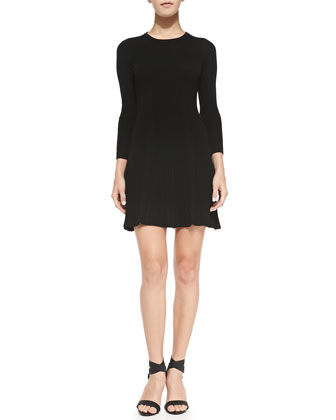 Jolia Wool/Cashmere Dress, Caviar