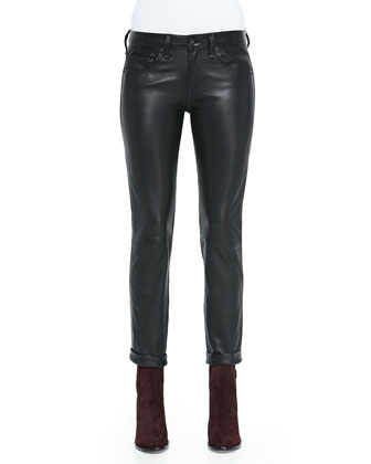 Dre Straight-Leg Leather Pants