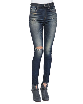 Justine High-Rise Skinny Jeans, Mateos