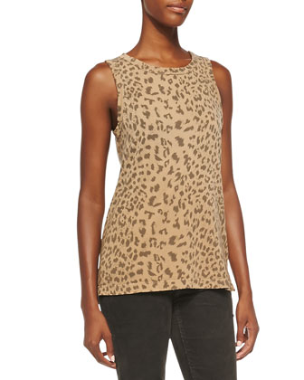 The Muscle Leopard-Print Tee