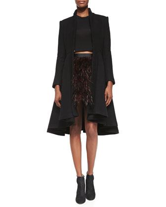 Mary Arched-Hem Princess Coat