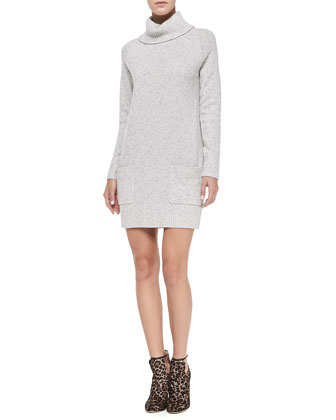 Heathered Pocket Sweater Dress