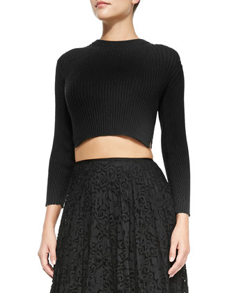 Kamboe Ribbed Knit Crop Top