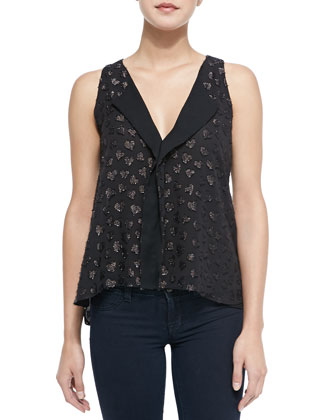 Bruden Shimmery-Heart Draped Top
