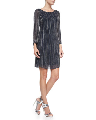 Riska Embellished Boat-Neck Dress
