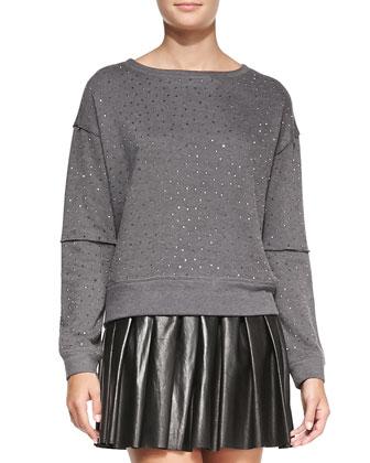 Scarlit Beaded Sweatshirt