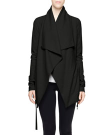 Sonar Draped Jacket W/ Tie Front