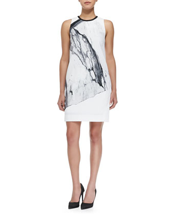 Hydra Sleeveless Printed Crepe Dress