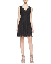 Nikolina Sleeveless Lace A-Line Dress