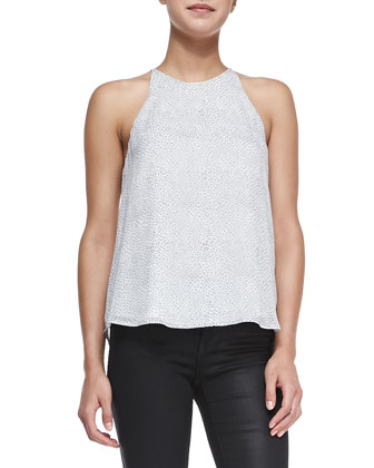 Cualli Pebble-Print Silk Tank
