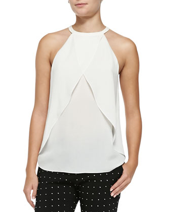 Iggy Sleeveless Layered Silk Top