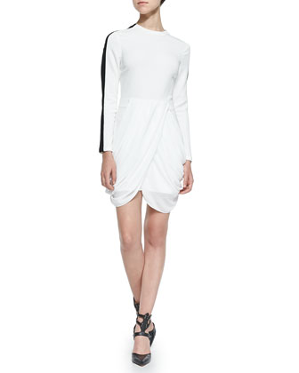 Tolan Draped-Front Dress