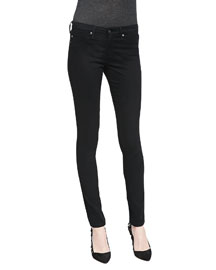 Sateen Leggings, Super Black