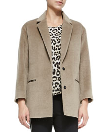 Sigrid Two-Button Wool-Blend Coat