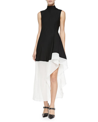 Dexas Two-Tone Asymmetric Dress