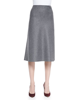 Jahneem Lightweight Flannel A-Line Skirt