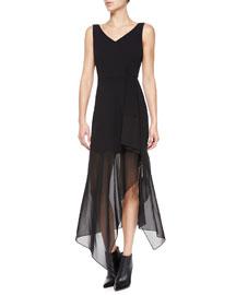 Dahama Register Sleeveless Dress W/ Sheer Skirt