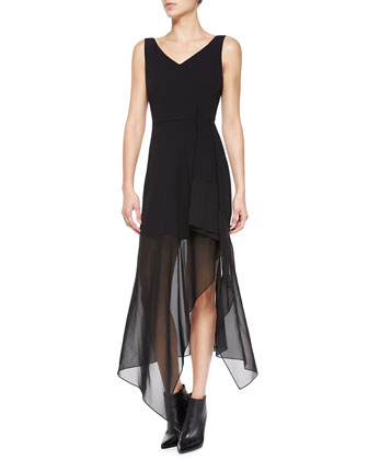 Dahama Register Sleeveless Dress W/ Sheer Skirt
