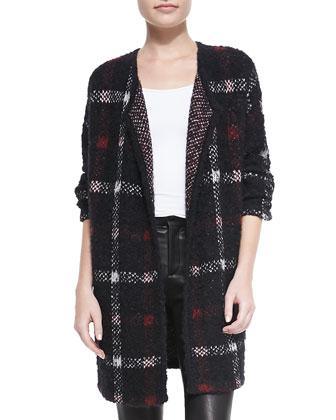Darcian Plaid Open Sweater Jacket